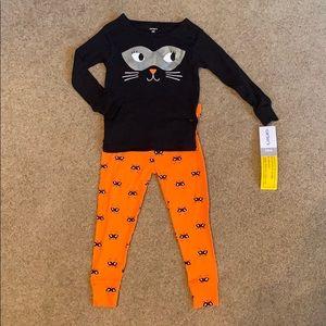 Carter's Halloween Pajamas - Black Cat